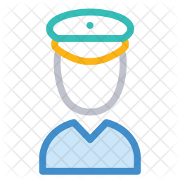 Police Colored Outline Icon
