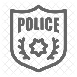 Police Badge Icon Of Line Style Available In Svg Png Eps Ai Icon Fonts