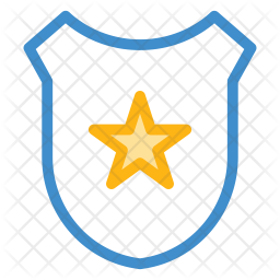Police badge Colored Outline Icon