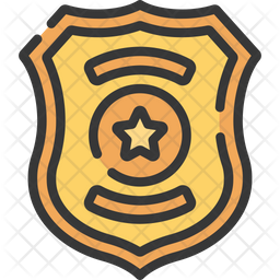 Police Badge Icon Of Colored Outline Style Available In Svg Png Eps Ai Icon Fonts