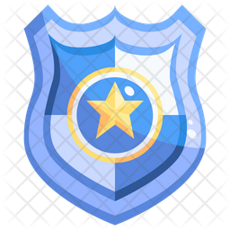 Police Badge Icon Of Flat Style Available In Svg Png Eps Ai Icon Fonts