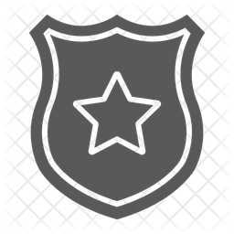 Police Badge Icon Of Glyph Style Available In Svg Png Eps Ai Icon Fonts