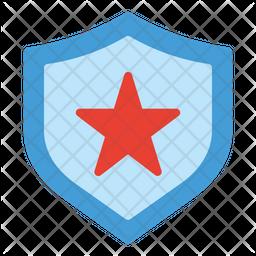 Police Badge Flat Icon