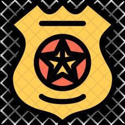 Police, Badge, Law, Crime, Judge, Court Icon