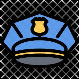 Police, Cap, Law, Crime, Judge, Court Icon