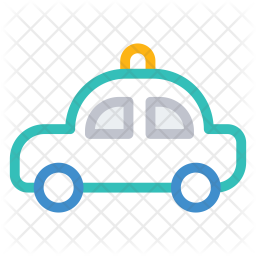 Police car Colored Outline Icon