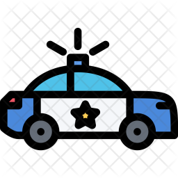 Police, Car, Law, Crime, Judge, Court Icon