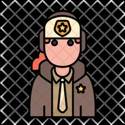 Policewoman Icon