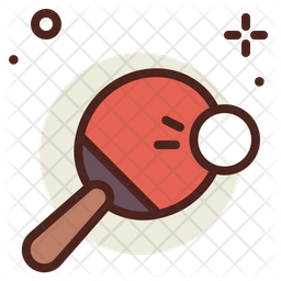 Pong Colored Outline Icon