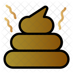 Poop Colored Outline Icon