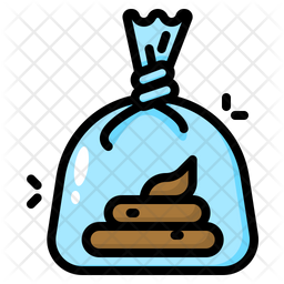 Poop Clean Up Colored Outline Icon