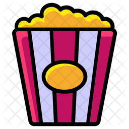 popcorn icon of colored outline style available in svg png eps ai icon fonts iconscout