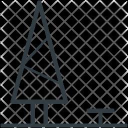 Poplar Line Icon