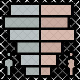 Population pyramid Icon