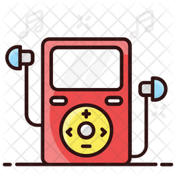 Portable Music Player Colored Outline Icon