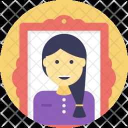 Portrait Flat Icon