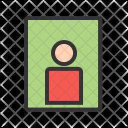 Portrait Colored Outline Icon