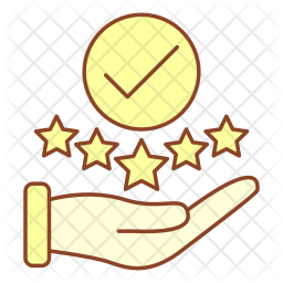 Positive feedback Colored Outline Icon