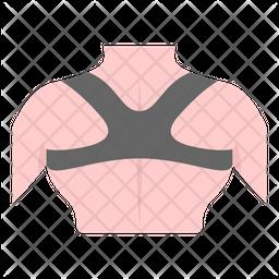 Posture Belt Flat Icon