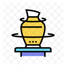 Pottering Colored Outline Icon
