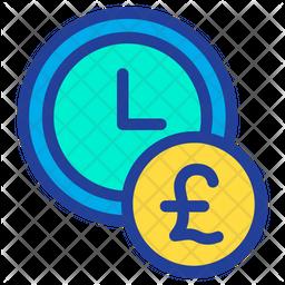 Pound Clock Icon