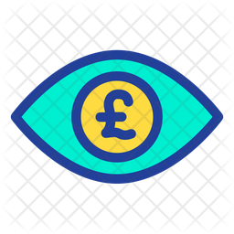 Pound Eye Icon Of Colored Outline Style Available In Svg Png Eps Ai Icon Fonts