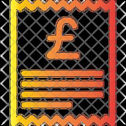 Pound Receipt Icon
