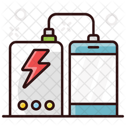 Power Bank Colored Outline Icon
