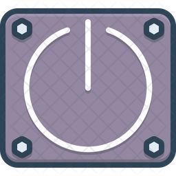 Power Button Colored Outline Icon