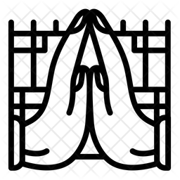 Pray Line Icon