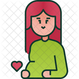 Pregnant Icon Of Colored Outline Style Available In Svg Png Eps Ai Icon Fonts