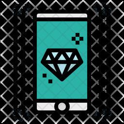 Premium Mobile Colored Outline Icon