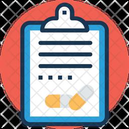 Prescription Colored Outline Icon