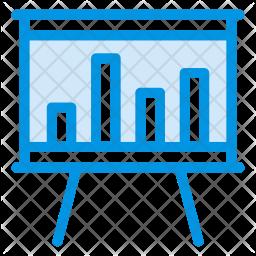 Presentation Board Colored Outline Icon