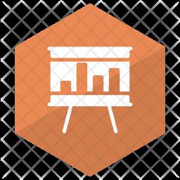 Presentation Board Glyph Icon