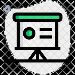 Presentation Shape Colored Outline Icon