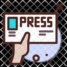 Press Colored Outline Icon