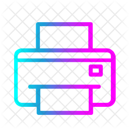 Printer Gradient Icon