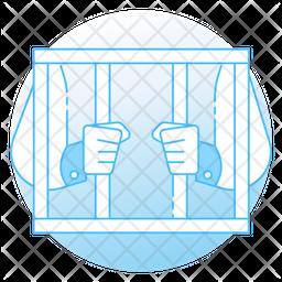 Prison Reform Colored Outline Icon