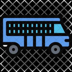 Prisoners, Bus, Law, Crime, Judge, Court, Police Icon
