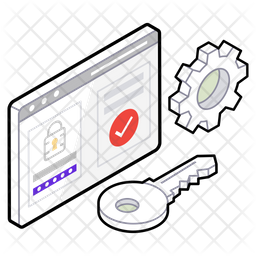 Privacy Protection Isometric Icon