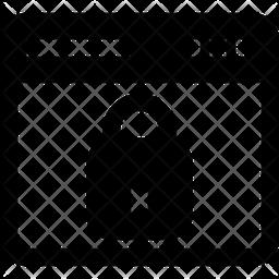Private Website Glyph Icon