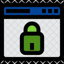 Private Website Colored Outline Icon
