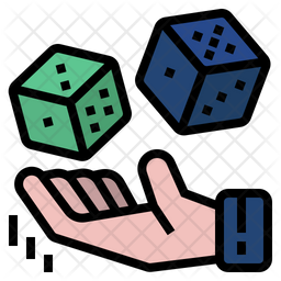 Probability Colored Outline Icon