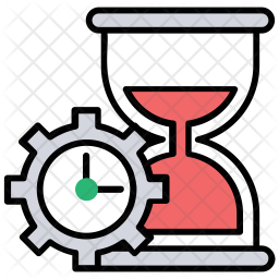 Processing Time Icon Of Colored Outline Style Available In Svg Png Eps Ai Icon Fonts