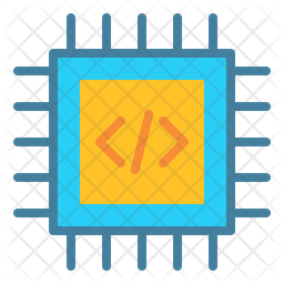 Processor Chip Flat Icon
