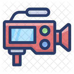 Professional Movie Camera Icon Of Colored Outline Style Available In Svg Png Eps Ai Icon Fonts