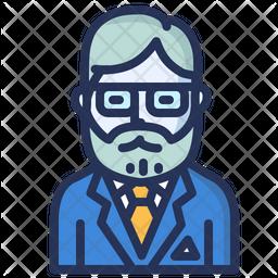 Professor Colored Outline Icon
