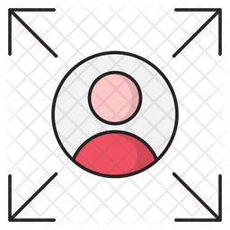 Profile Target Colored Outline Icon