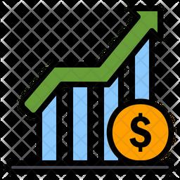 Profit Colored Outline Icon